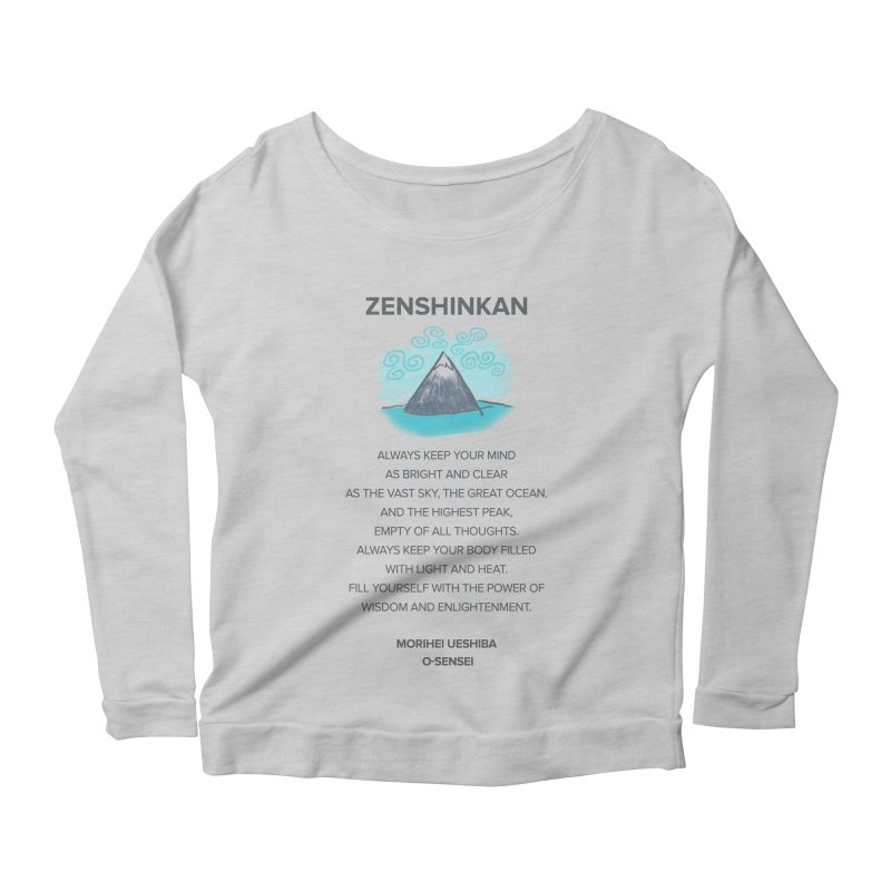 Power of Wisdom Women's Longsleeve Scoopneck  by Zenshinkan's Shop