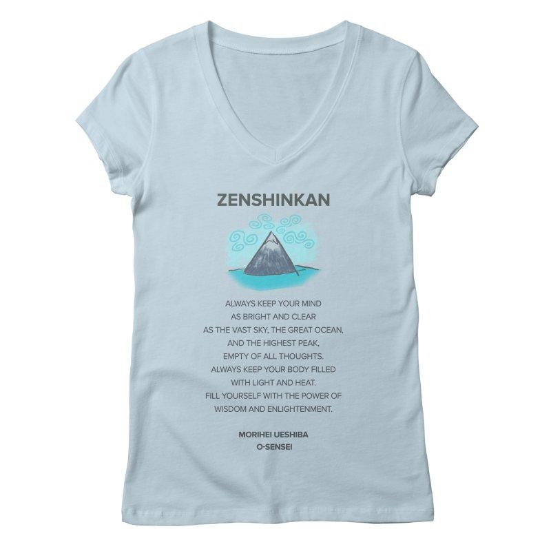 Power of Wisdom Women's V-Neck by Zenshinkan's Shop