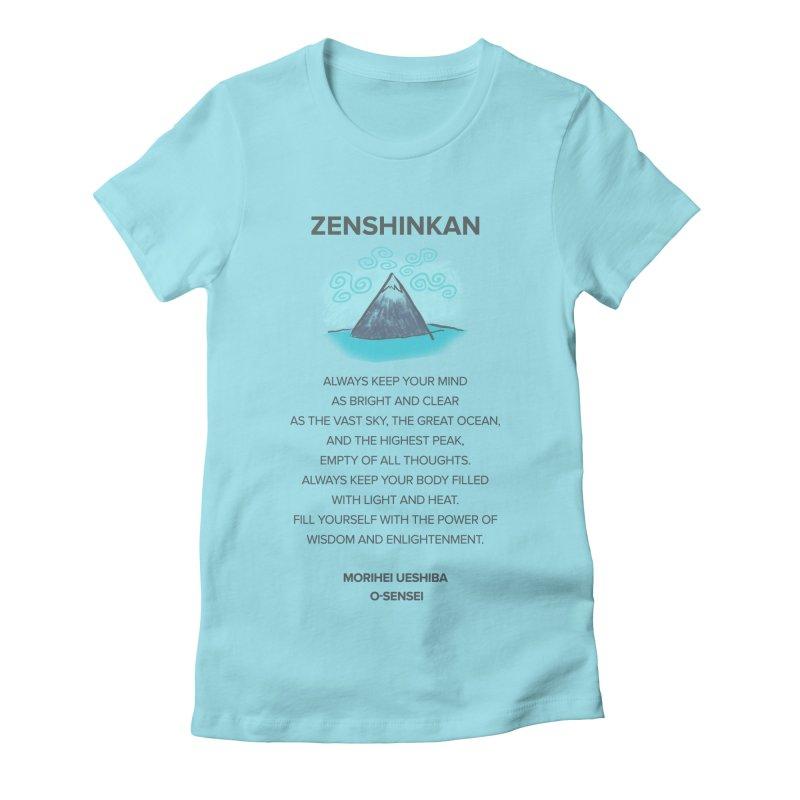 Power of Wisdom Women's Fitted T-Shirt by Zenshinkan's Shop