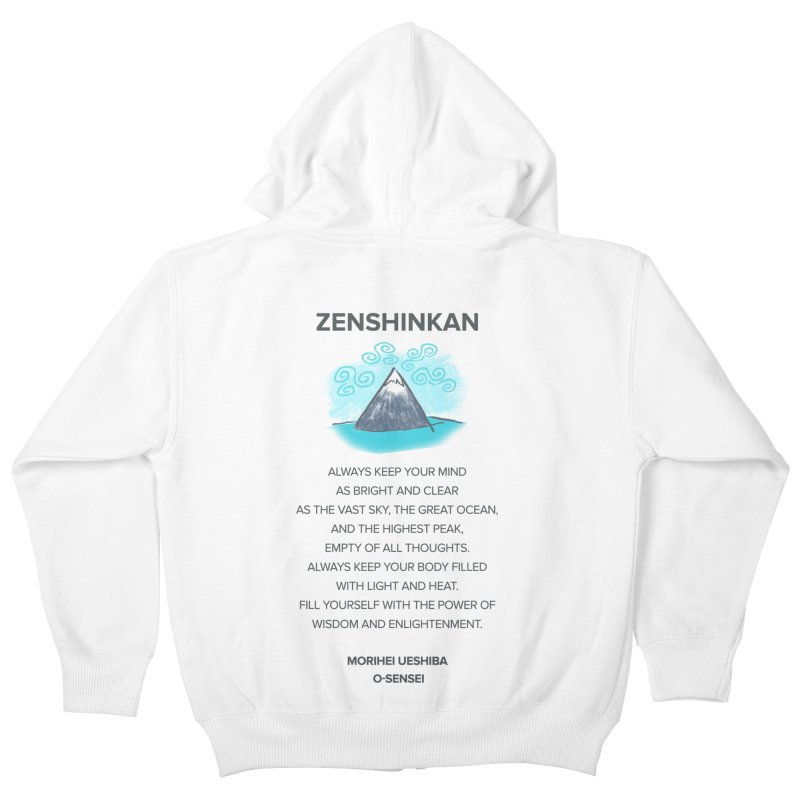 Power of Wisdom Kids Zip-Up Hoody by Zenshinkan's Shop