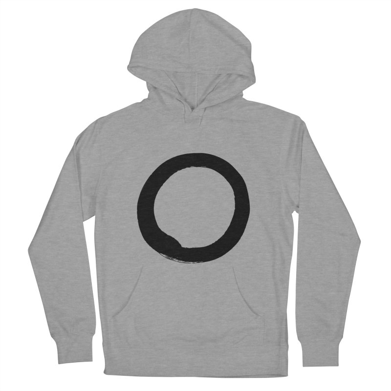 Enso Calligraphy Women's French Terry Pullover Hoody by Zenshinkan's Shop