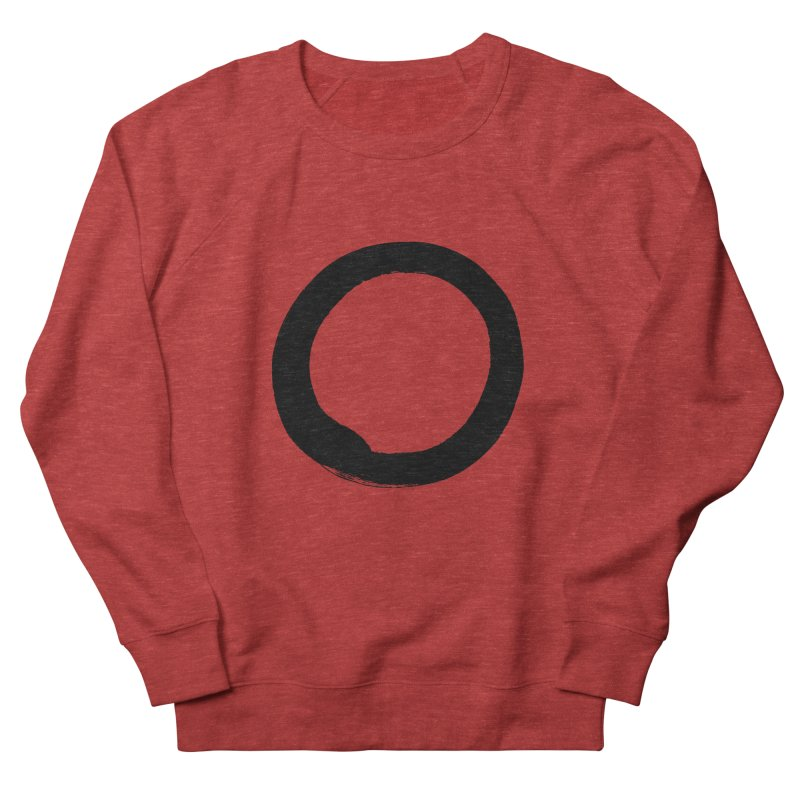 Enso Calligraphy Women's French Terry Sweatshirt by Zenshinkan's Shop