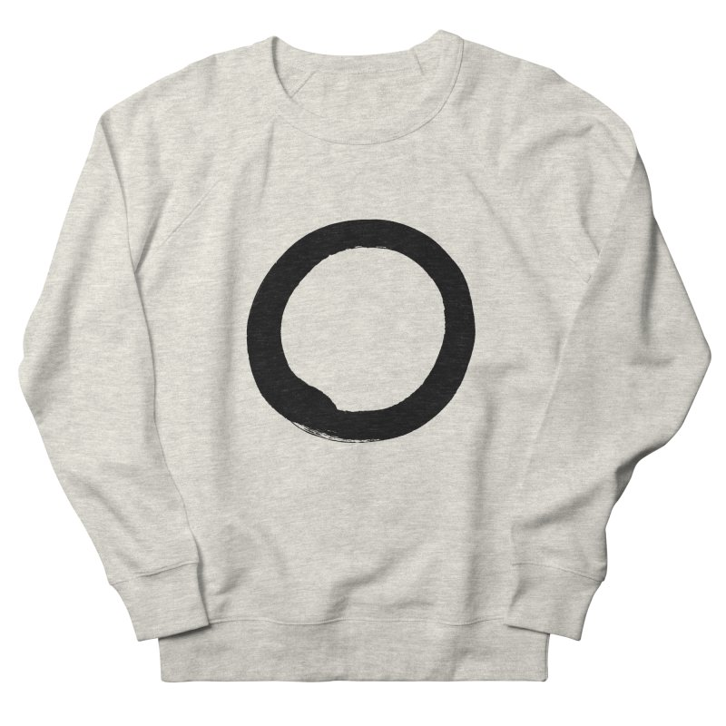 Enso Calligraphy Women's French Terry Sweatshirt by Zenshinkan's Shop