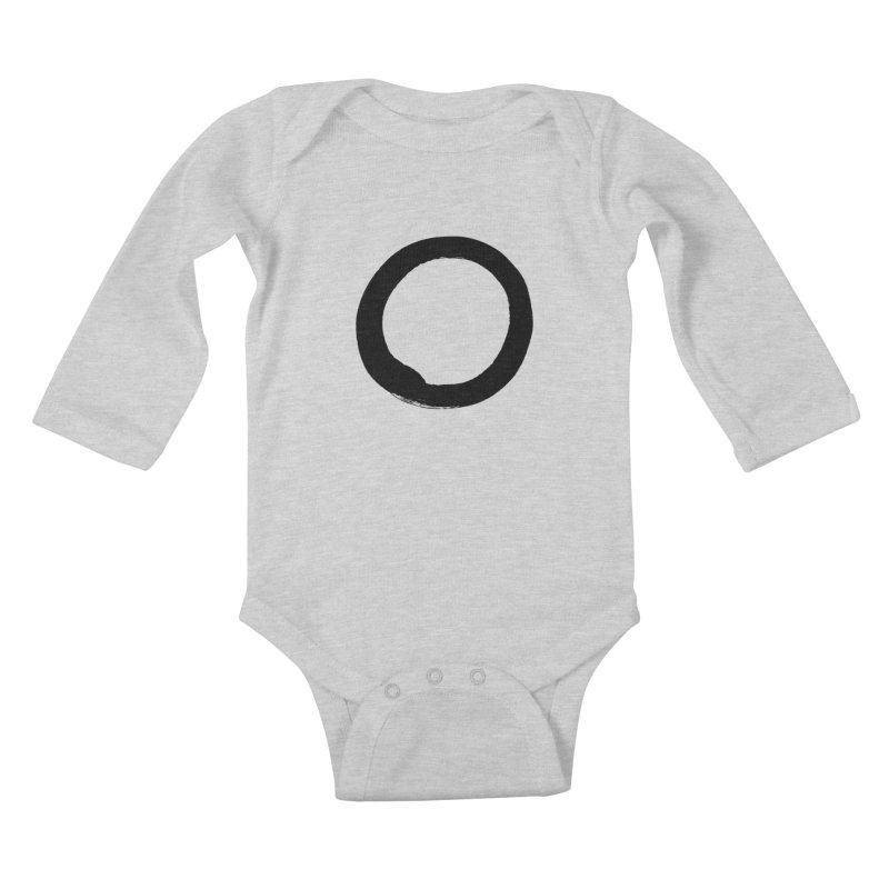 Enso Calligraphy Kids Baby Longsleeve Bodysuit by Zenshinkan's Shop