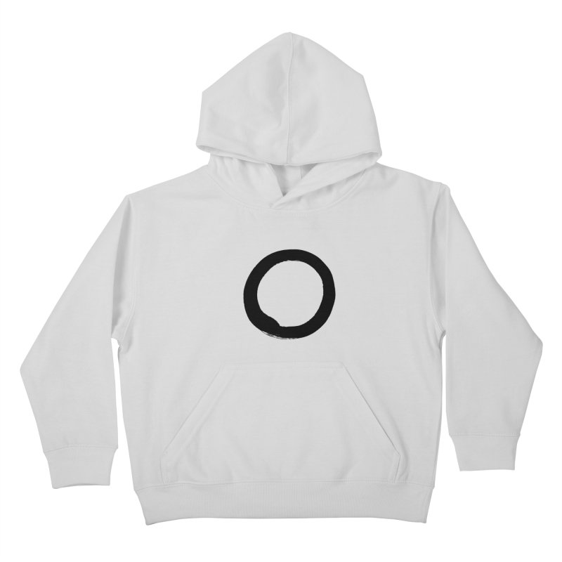 Enso Calligraphy Kids Pullover Hoody by Zenshinkan's Shop
