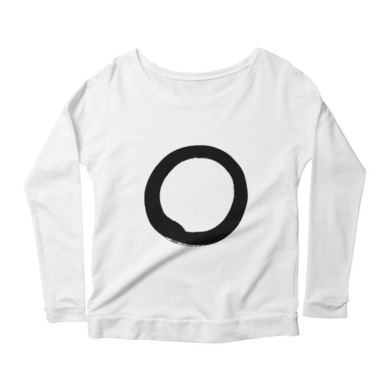 Enso Calligraphy Women's Scoop Neck Longsleeve T-Shirt by Zenshinkan's Shop