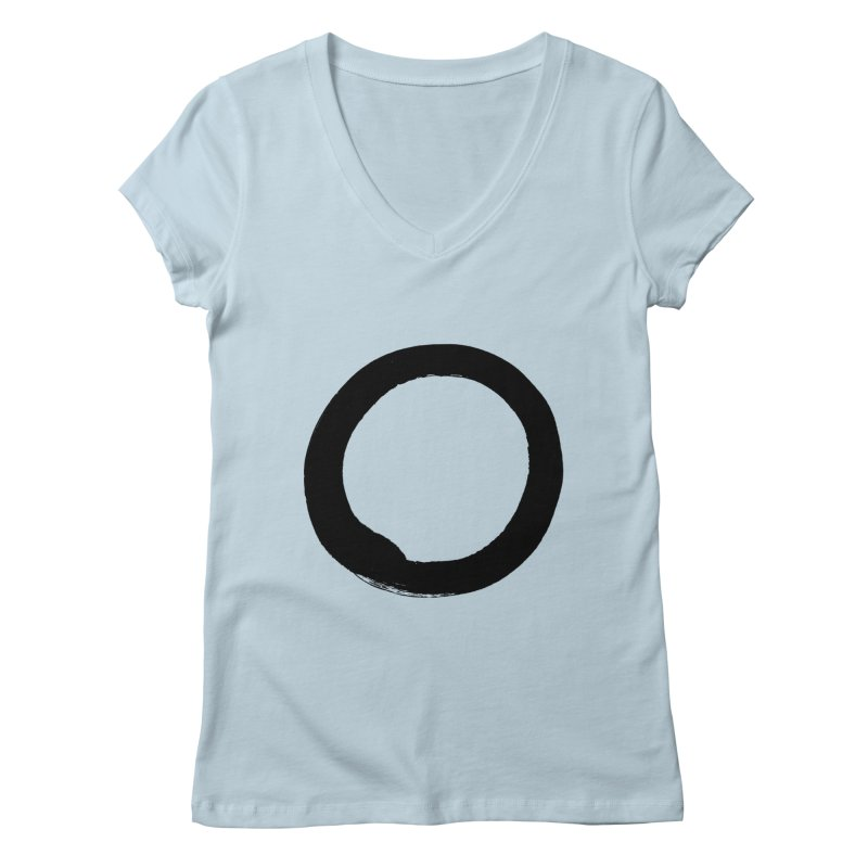 Enso Calligraphy Women's V-Neck by Zenshinkan's Shop