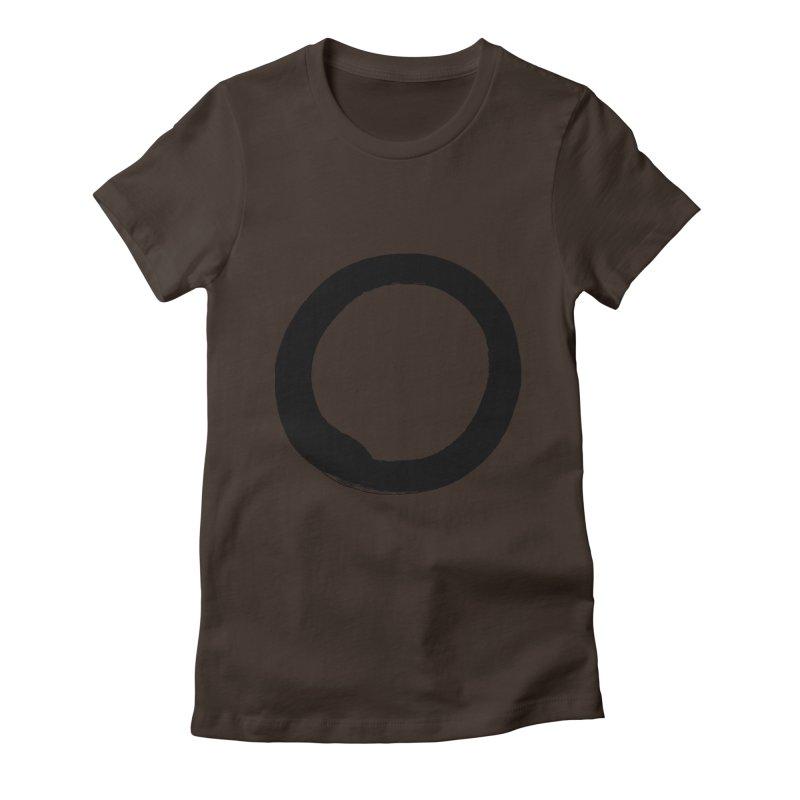 Enso Calligraphy Women's Fitted T-Shirt by Zenshinkan's Shop