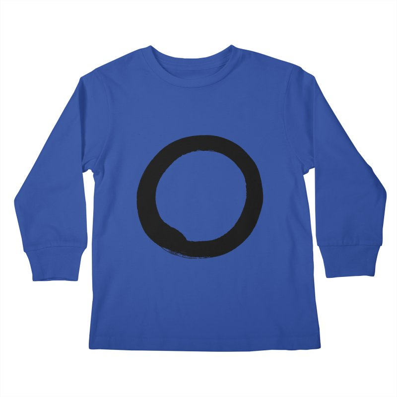 Enso Calligraphy Kids Longsleeve T-Shirt by Zenshinkan's Shop