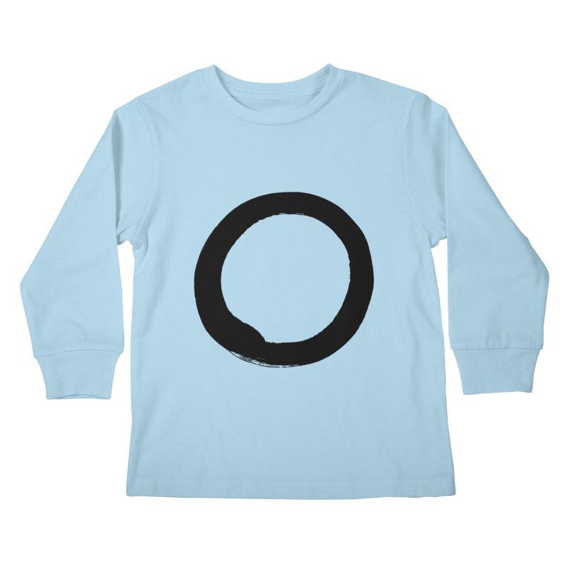 Enso Calligraphy Kids Longsleeve T-Shirt by Zenshinkan's Shop