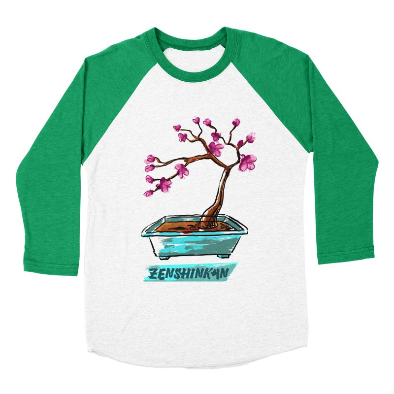 Japanese Flowering Tree Women's Baseball Triblend T-Shirt by Zenshinkan's Shop