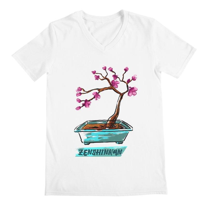 Japanese Flowering Tree Men's V-Neck by Zenshinkan's Shop