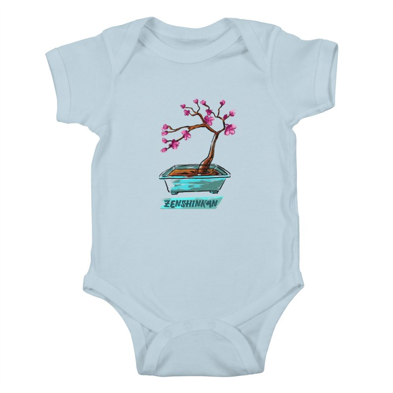 Japanese Flowering Tree Kids Baby Bodysuit by Zenshinkan's Shop