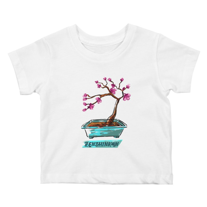 Japanese Flowering Tree Kids Baby T-Shirt by Zenshinkan's Shop