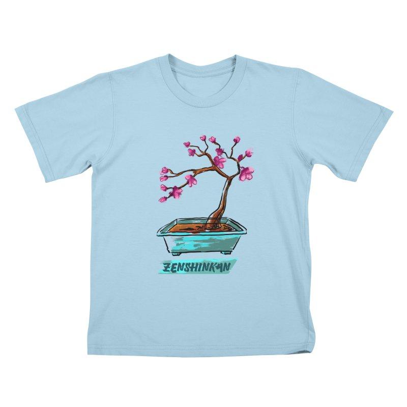 Japanese Flowering Tree Kids T-Shirt by Zenshinkan's Shop