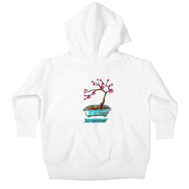 Japanese Flowering Tree Kids Baby Zip-Up Hoody by Zenshinkan's Shop