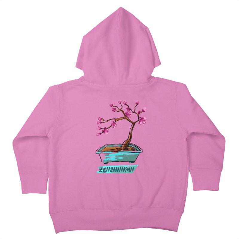 Japanese Flowering Tree Kids Toddler Zip-Up Hoody by Zenshinkan's Shop