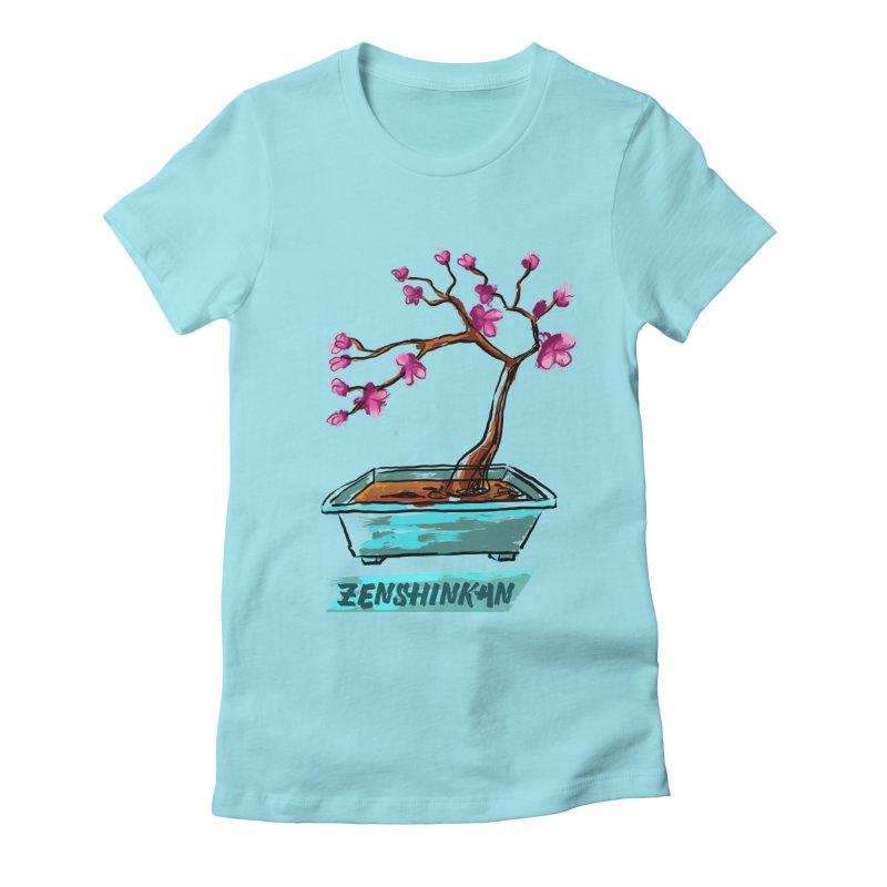 Japanese Flowering Tree Women's Fitted T-Shirt by Zenshinkan's Shop