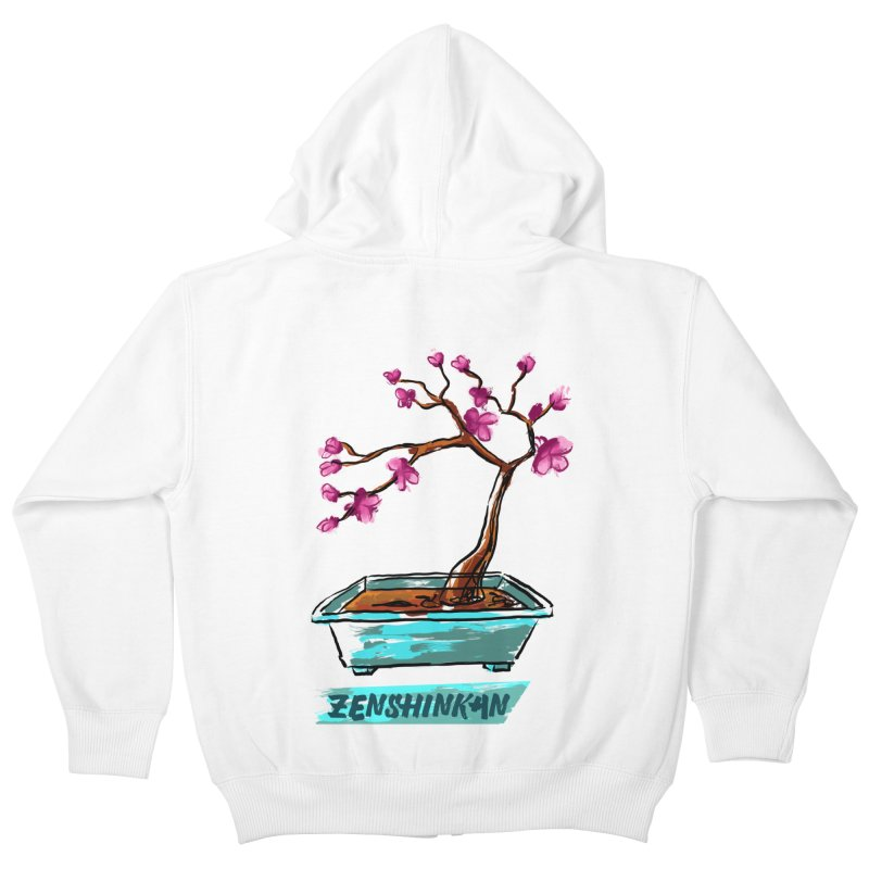 Japanese Flowering Tree Kids Zip-Up Hoody by Zenshinkan's Shop