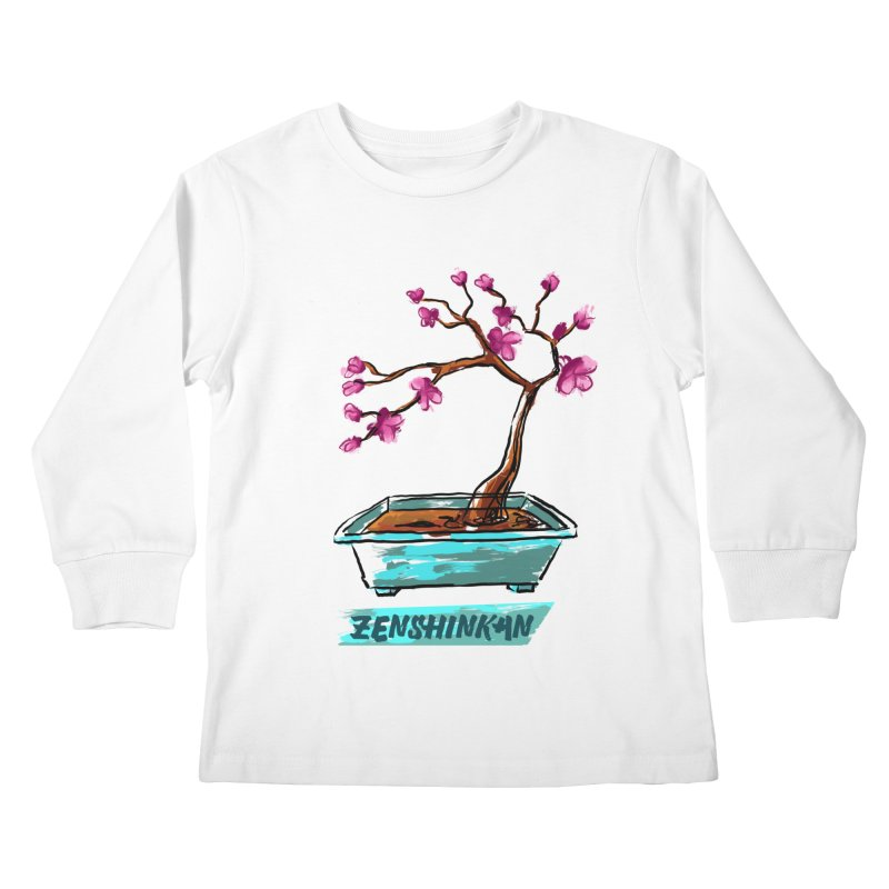 Japanese Flowering Tree Kids Longsleeve T-Shirt by Zenshinkan's Shop