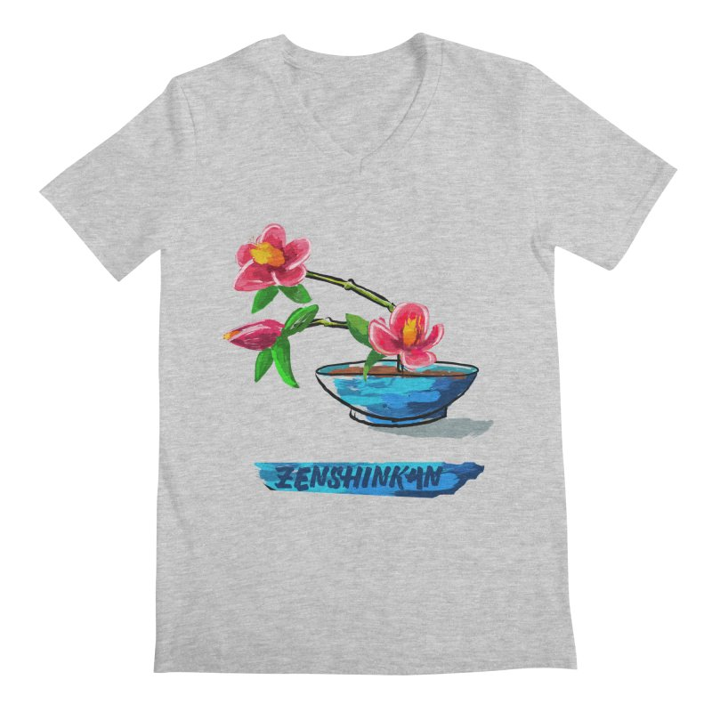 Ikebana II Men's Regular V-Neck by Zenshinkan's Shop