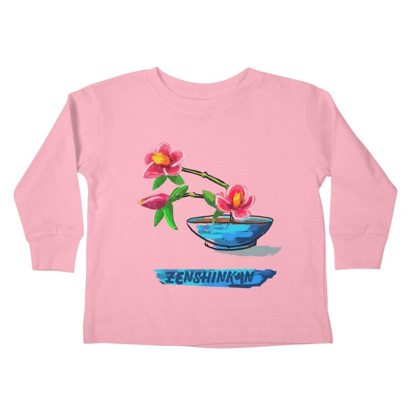 Ikebana II Kids Toddler Longsleeve T-Shirt by Zenshinkan's Shop