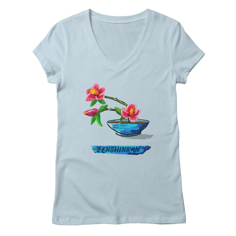Ikebana II Women's Regular V-Neck by Zenshinkan's Shop