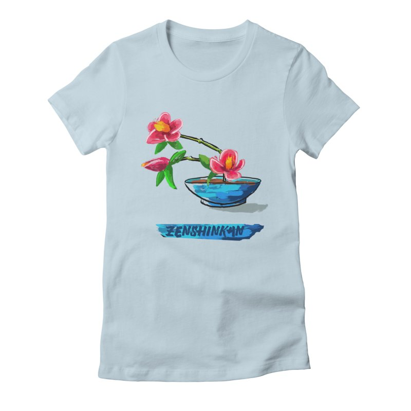 Ikebana II Women's Fitted T-Shirt by Zenshinkan's Shop