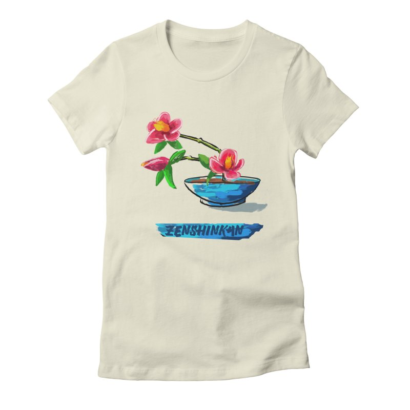 Ikebana II Women's Fitted T-Shirt by Zenshinkan's Shop