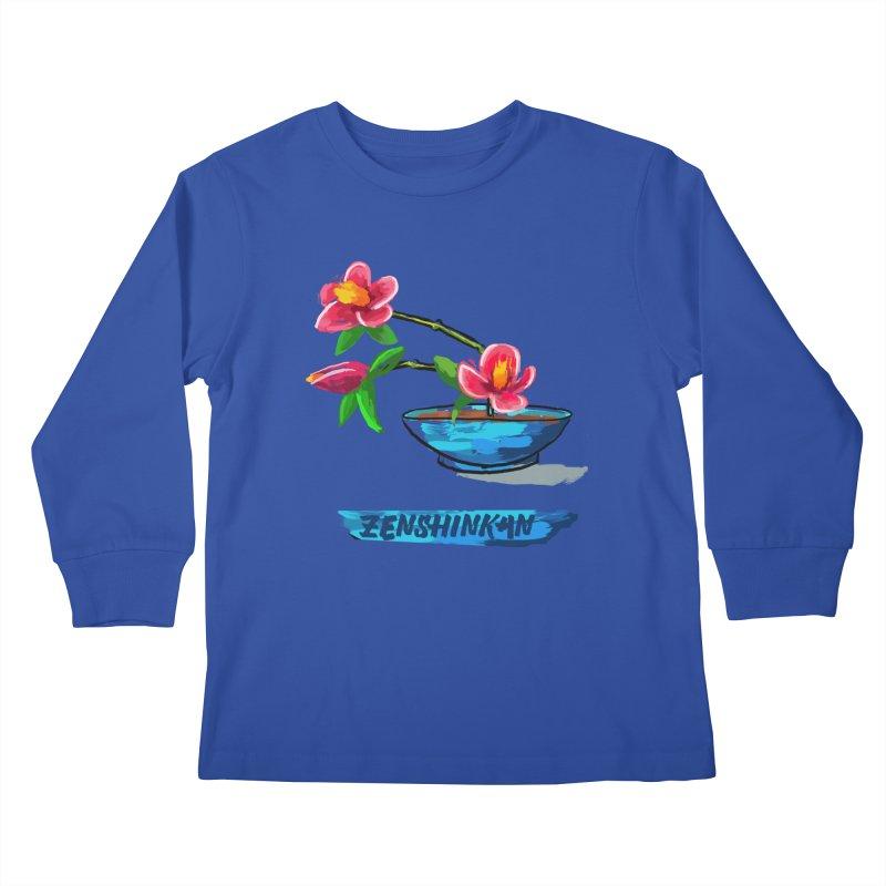 Ikebana II Kids Longsleeve T-Shirt by Zenshinkan's Shop