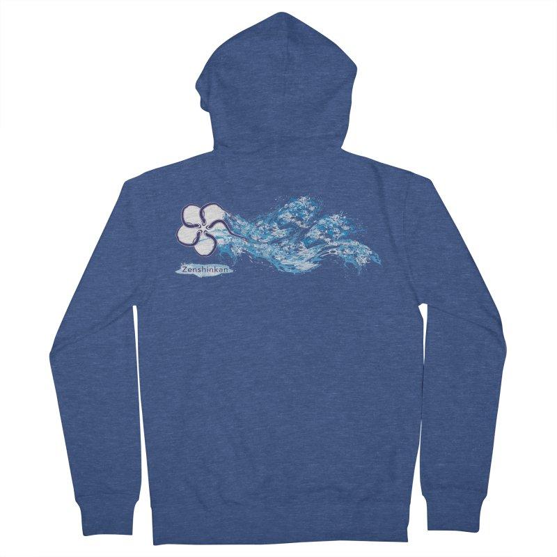 Water Element Men's Zip-Up Hoody by Zenshinkan's Shop