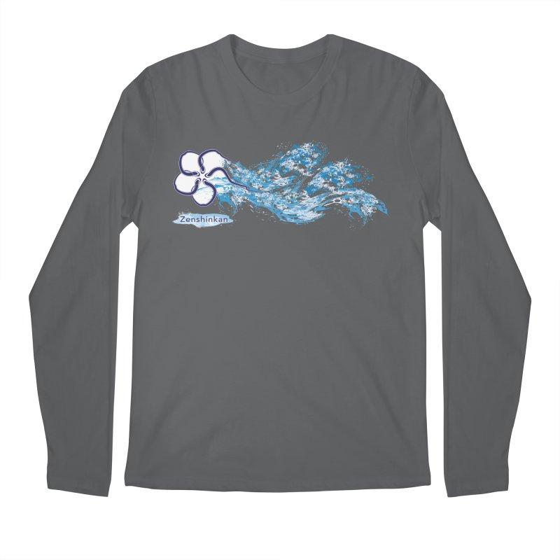 Water Element Men's Longsleeve T-Shirt by Zenshinkan's Shop