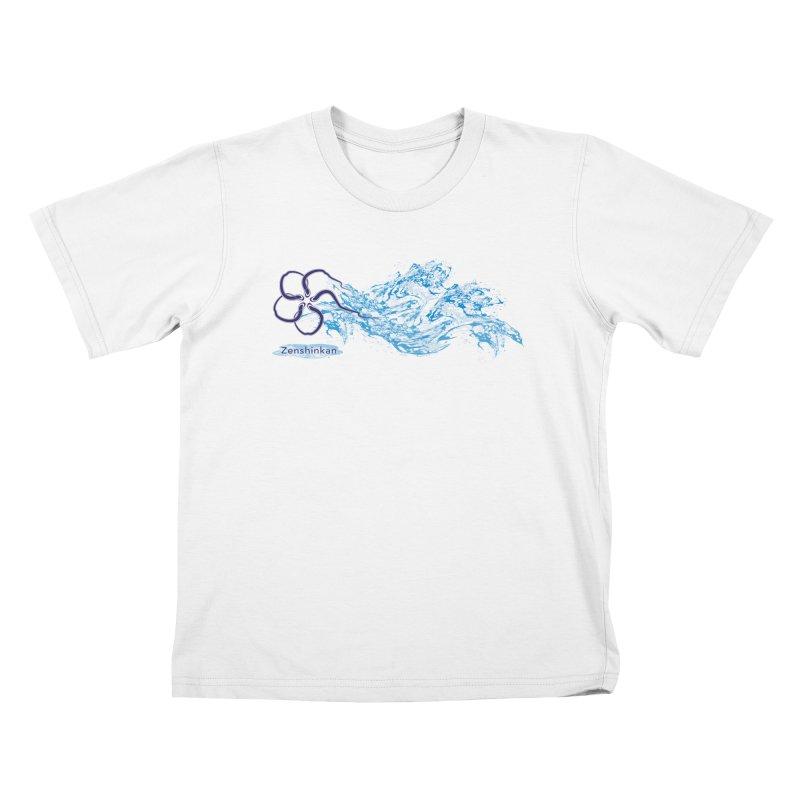 Water Element Kids T-Shirt by Zenshinkan's Shop