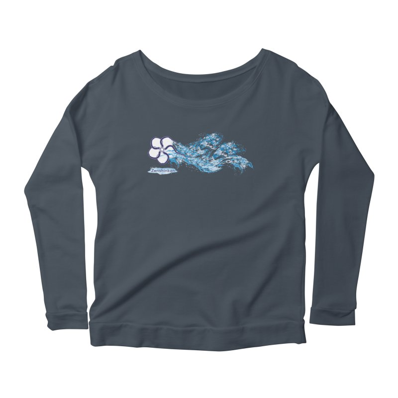 Water Element Women's Longsleeve Scoopneck  by Zenshinkan's Shop