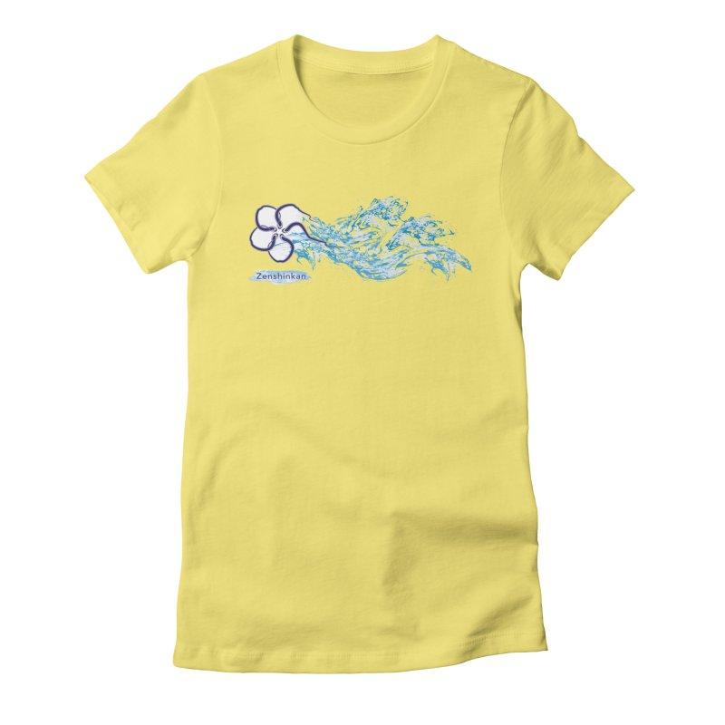 Water Element Women's Fitted T-Shirt by Zenshinkan's Shop