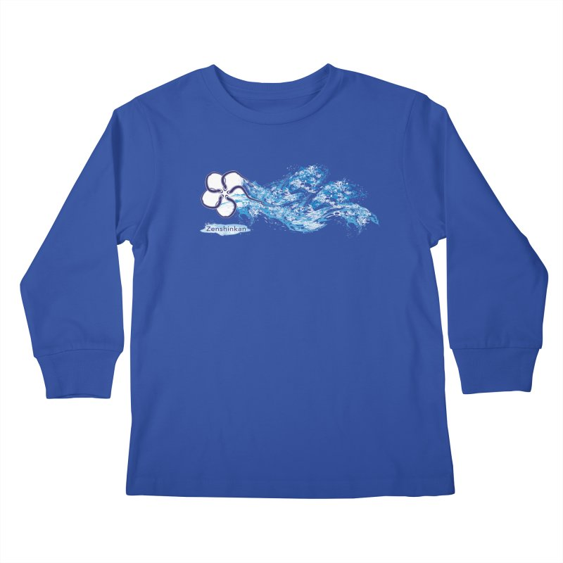 Water Element Kids Longsleeve T-Shirt by Zenshinkan's Shop