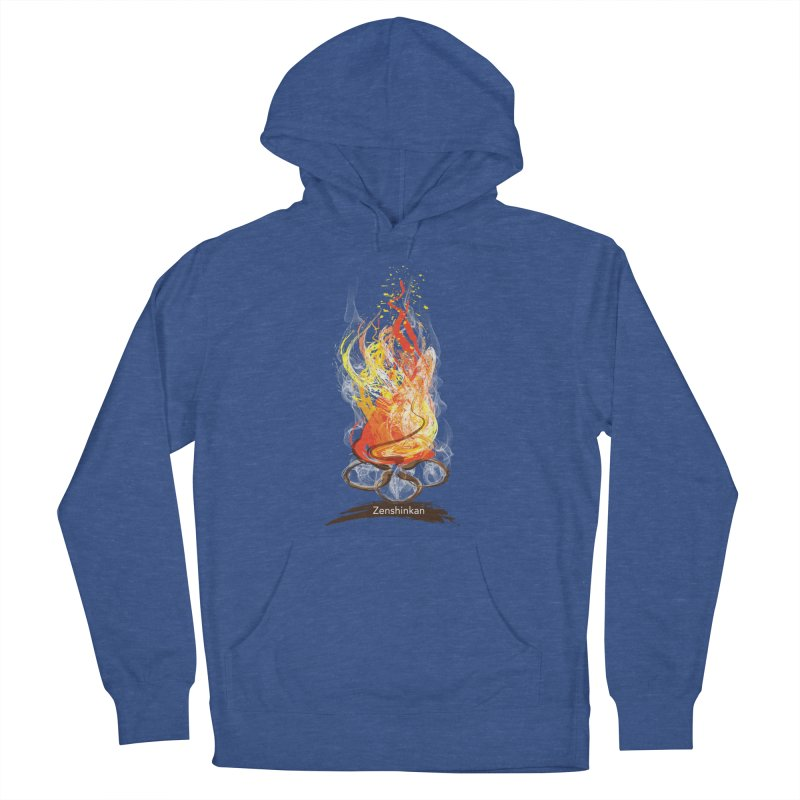 Fire Element Women's French Terry Pullover Hoody by Zenshinkan's Shop