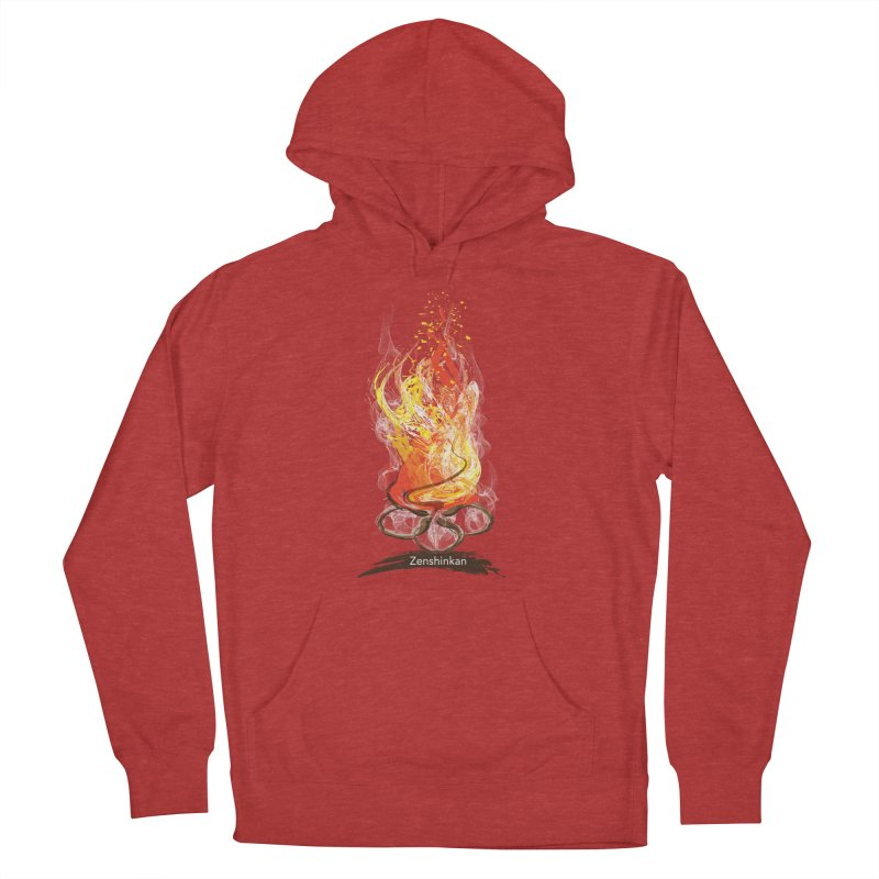 Fire Element Men's French Terry Pullover Hoody by Zenshinkan's Shop
