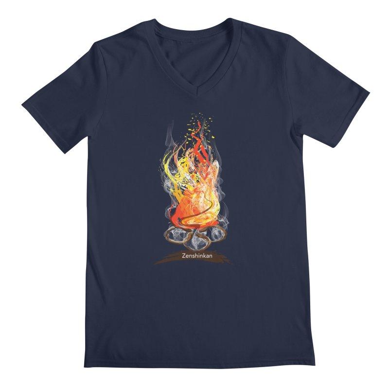 Fire Element Men's Regular V-Neck by Zenshinkan's Shop