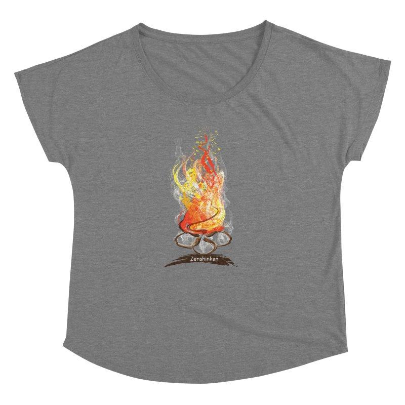 Fire Element Women's Dolman Scoop Neck by Zenshinkan's Shop