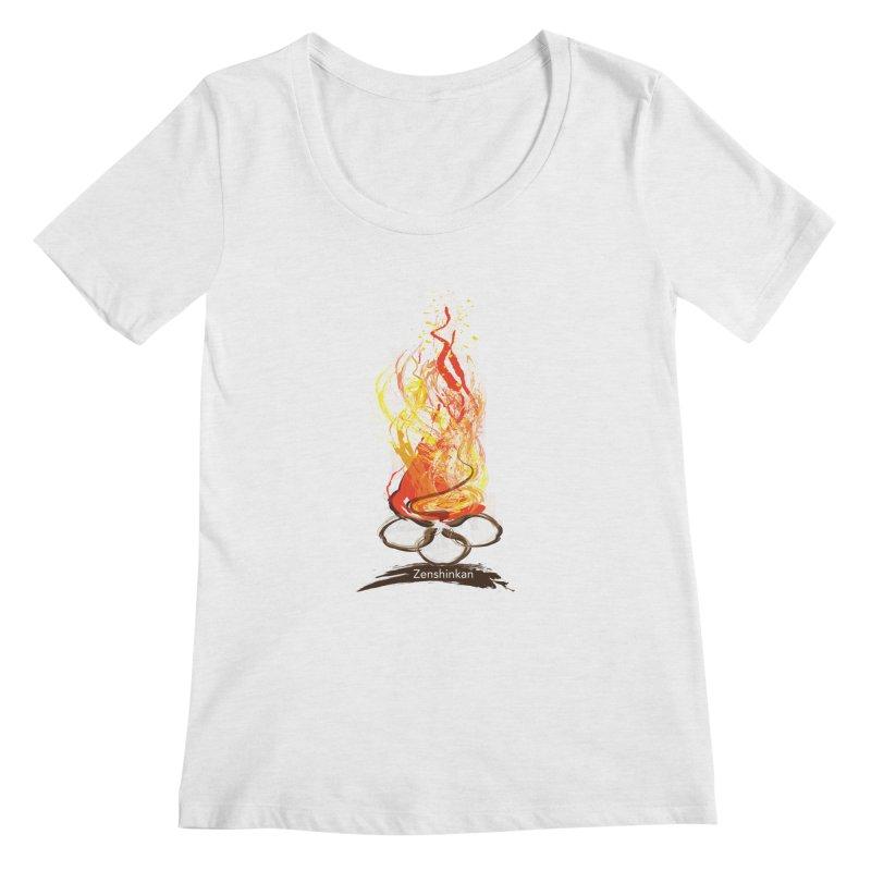 Fire Element Women's Regular Scoop Neck by Zenshinkan's Shop
