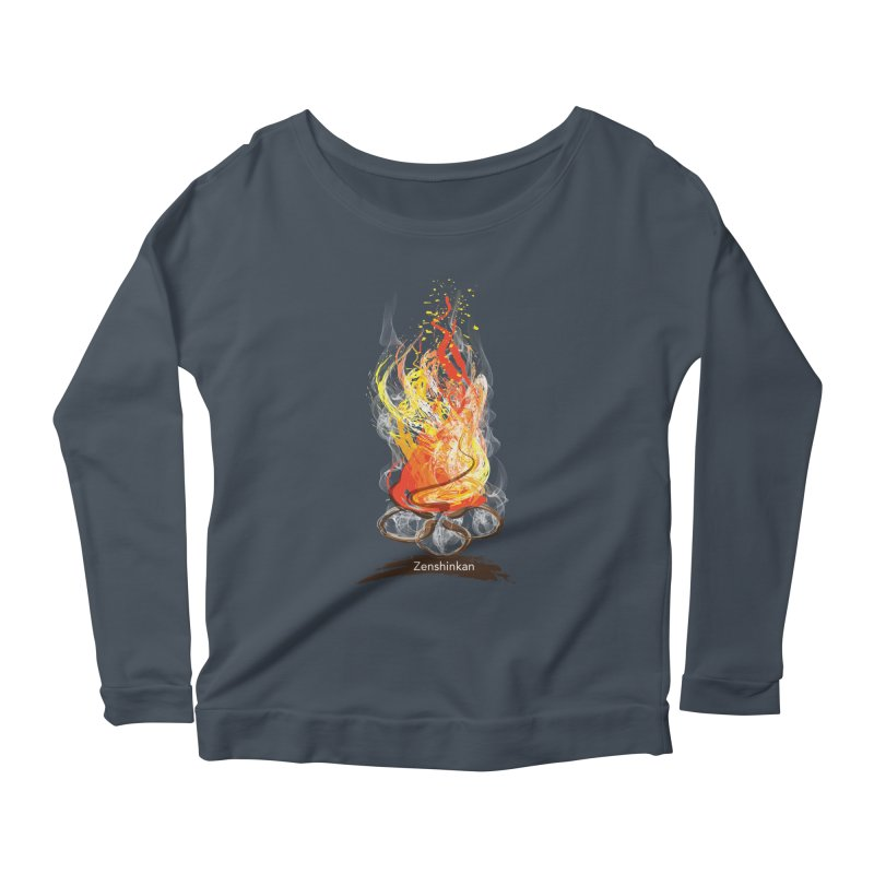 Fire Element Women's Scoop Neck Longsleeve T-Shirt by Zenshinkan's Shop
