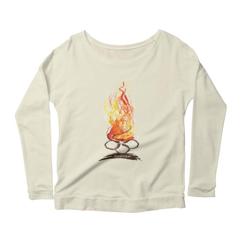 Fire Element Women's Scoop Neck Longsleeve T-Shirt by Zenshinkan's Shop