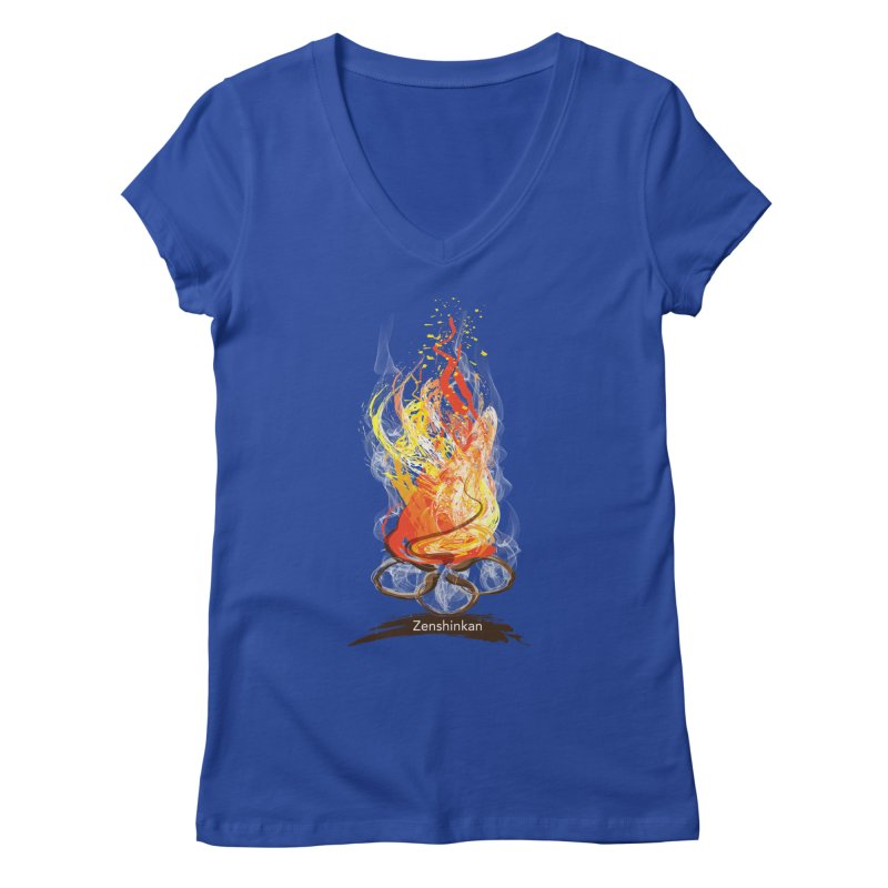 Fire Element Women's Regular V-Neck by Zenshinkan's Shop
