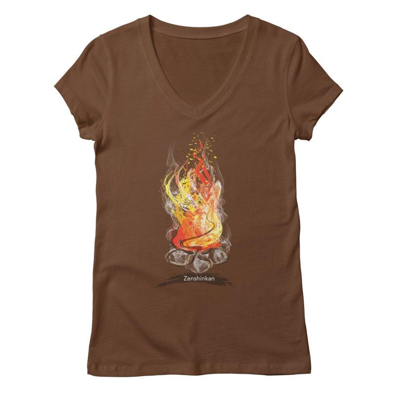 Fire Element Women's Regular V-Neck by Zenshinkan's Shop