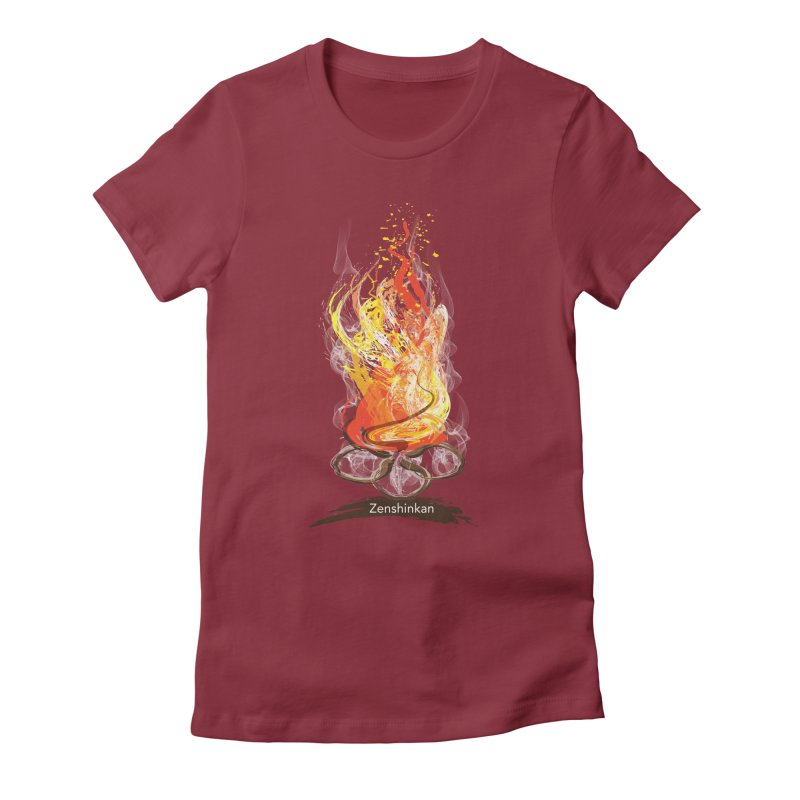 Fire Element Women's Fitted T-Shirt by Zenshinkan's Shop