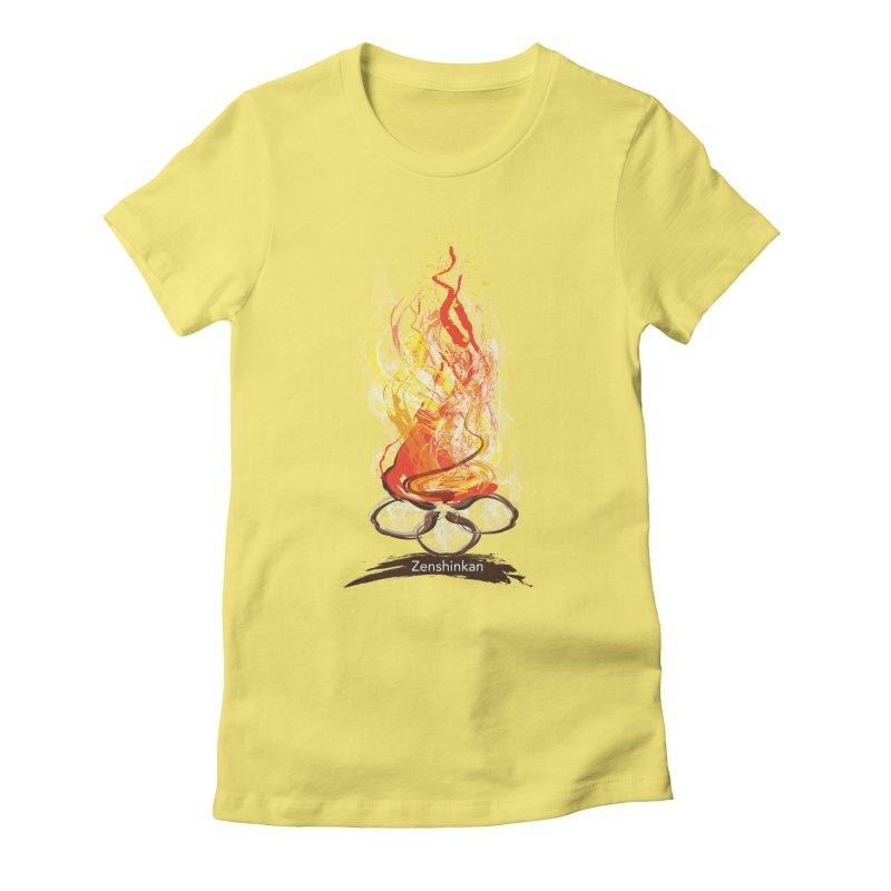 Fire Element Women's Fitted T-Shirt by Zenshinkan's Shop