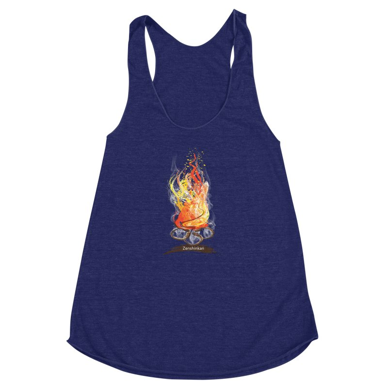 Fire Element Women's Racerback Triblend Tank by Zenshinkan's Shop