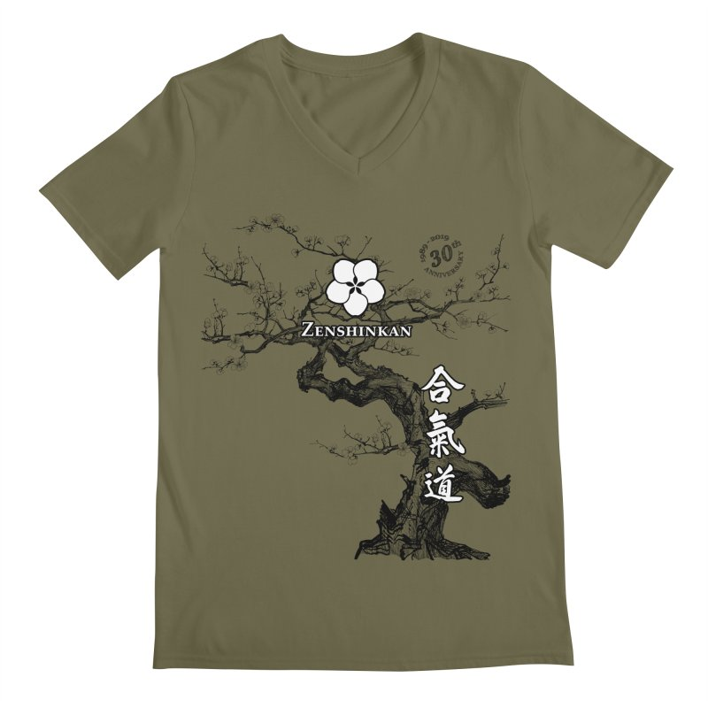 Zenshinkan's 30th Anniversary Print Men's Regular V-Neck by Zenshinkan's Shop