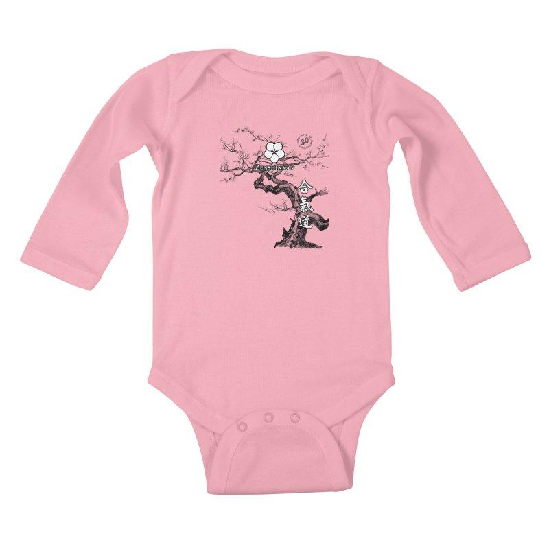 Zenshinkan's 30th Anniversary Print Kids Baby Longsleeve Bodysuit by Zenshinkan's Shop